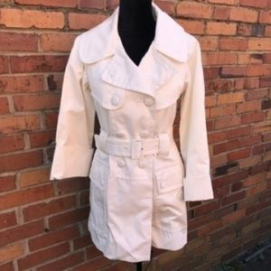 French Connection Women Trench Coat White nwt 2